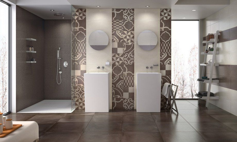 Pavimento e rivestimento bagno di naxos ceramiche