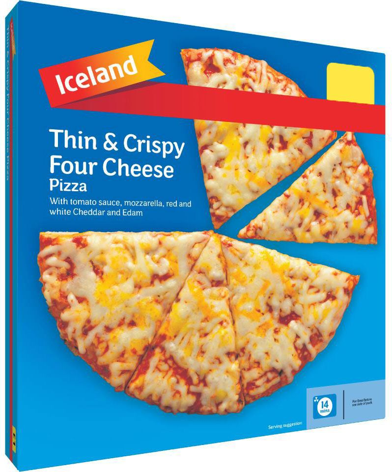 Iceland Thin & Crispy Four Cheese Pizza (322g)
