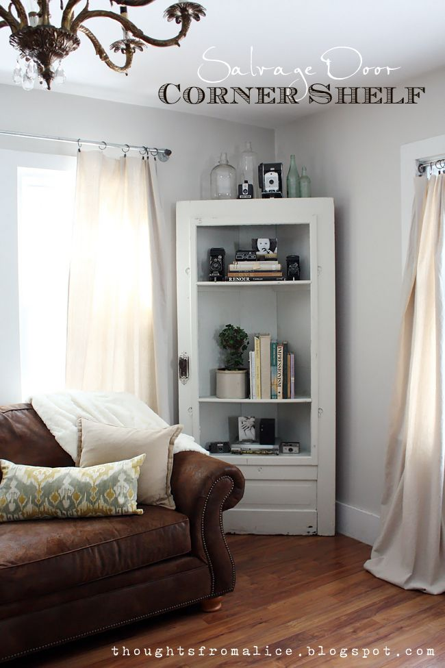 Thoughts From Alice: Vignette Decorating | Home Is Where The Heart Isu003c3 |  Pinterest | Door Corner Shelves, Salvaged Doors And Corner Shelf