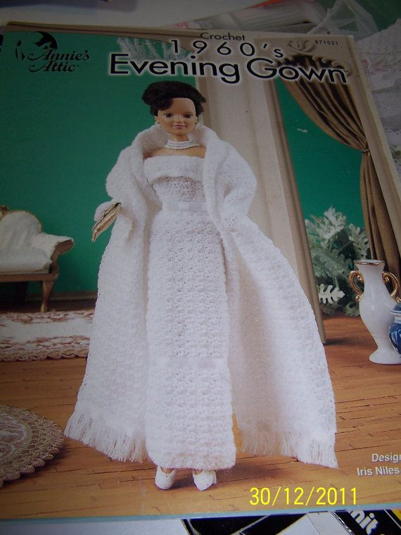 FREE CROCHET PATTERN FROM THE 1960\'S | Crochet pattern 1960 evening ...