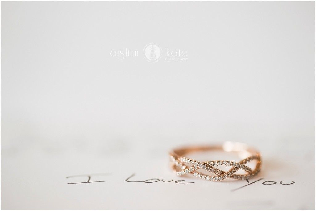Aislinn Kate Photography | wedding rings | engagement rings | diamonds | i love you | love letters | wedding letters