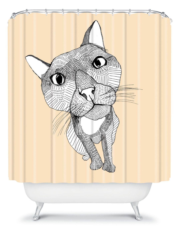 Casey Rogers Big Head Shower Curtain - Gilt Home
