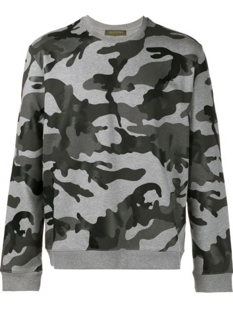 485e93217e03 T Shirts · Winter · VALENTINO Camouflage Print Sweatshirt.  valentino   cloth  sweatshirt Valentino Camouflage