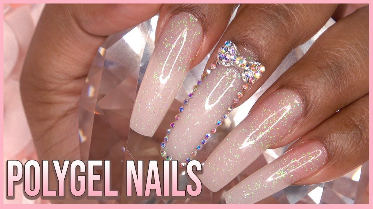 Polygel Nails With Dual Forms Nail Tutorial For Beginners How To Gelish Polygel Youtube Polygel Nails Diy Acrylic Nails Nail Tutorials
