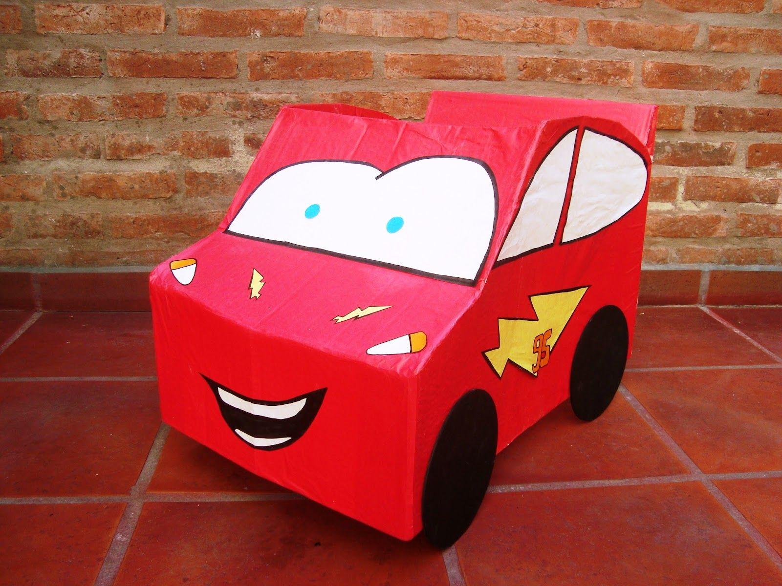 Cars Hecho Con Una Caja De Carton Ideal Para Que Los Mas Chiquitos