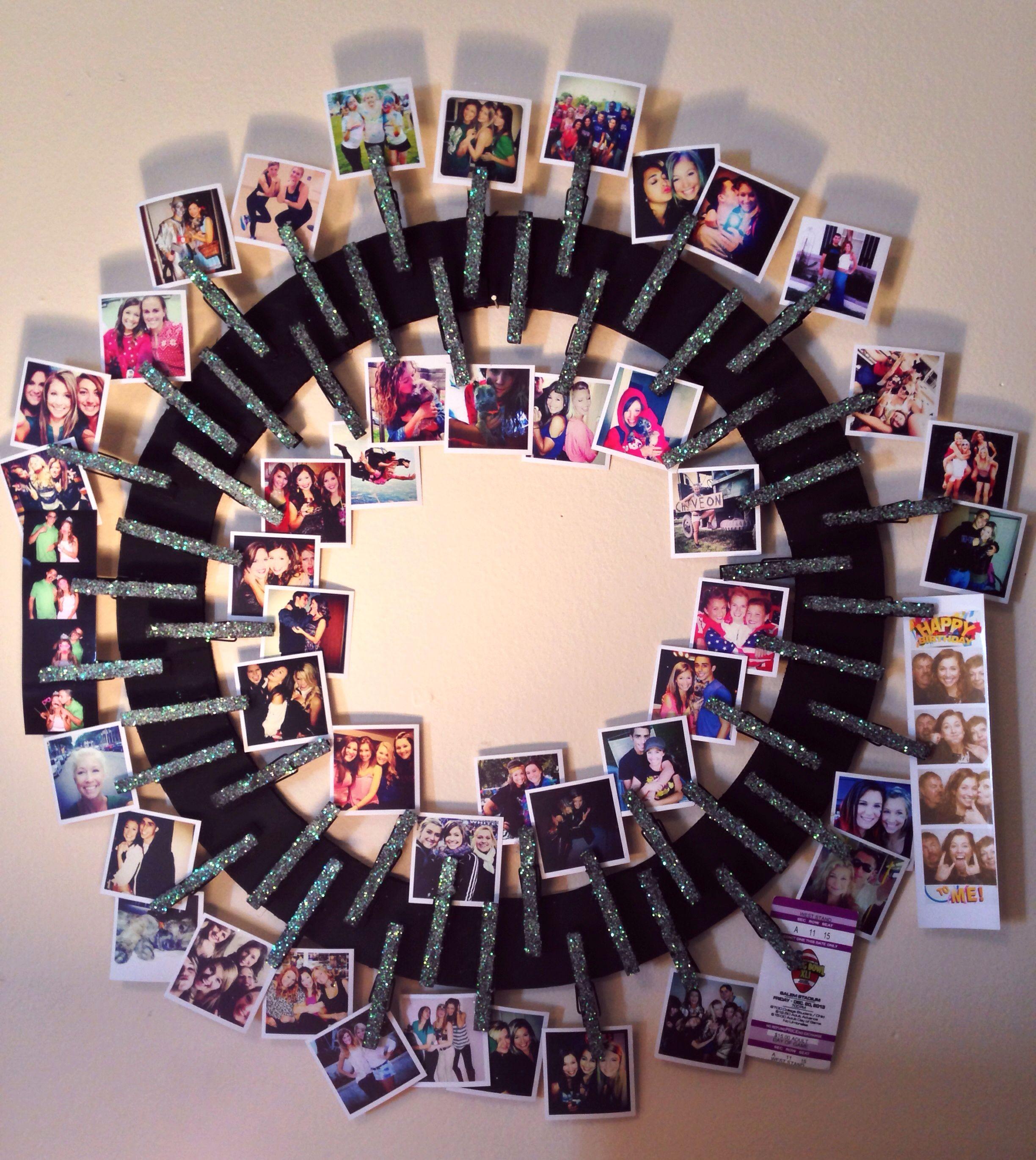 Close pins wheel to hang photos regalos creativos