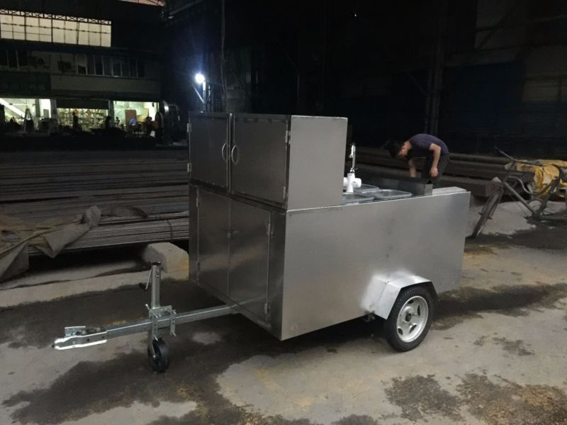 New Stainless Steel Mobile Food Cart Catering Trailer Kitchen ...