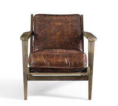 Gentil Okay Pottery Barn, This Is Pretty Cool! Raylan Leather Armchair #potterybarn