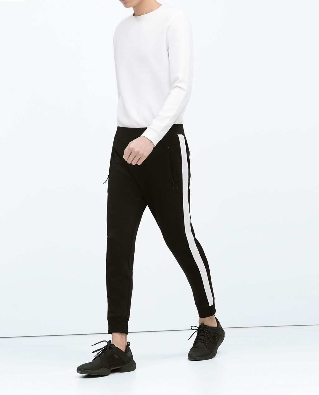 Image 2 of NEOPRENE TECHNICAL TROUSERS from Zara | Sweat ...