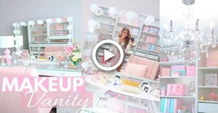 DECORATE MY MAKEUP VANITY WITH ME AND TOUR! SLMissGlam images