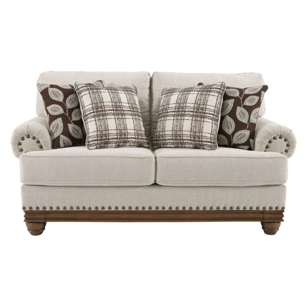 Ashley Furniture Manufacturing: Signature Design By Ashley Harleson Loveseat Beige In 2019