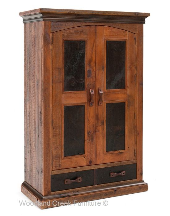 Handcrafted Elegant Rustic Armoire Available At Woodland Creek Furniture.  Custom Sizes Available.