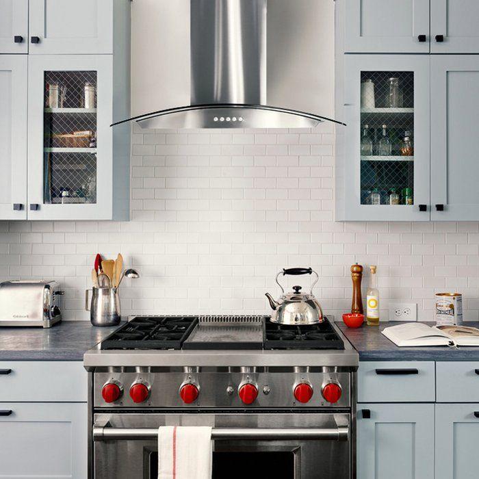"30 Modern Kitchen Design Ideas: 30"" 380 CFM Ducted Wall Mount Range Hood"