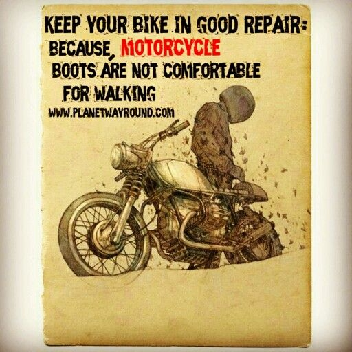Keep Your Bike In Good Repair Because Motorcycle Boots Are Not