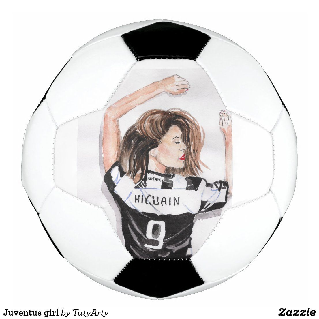 Juventus girl soccer ball