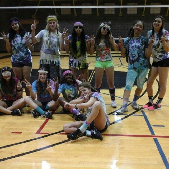 Panthers On Hippie Day Panthers Volleyball Basketball Court