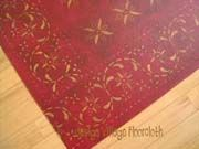 Red May House Floorcloth