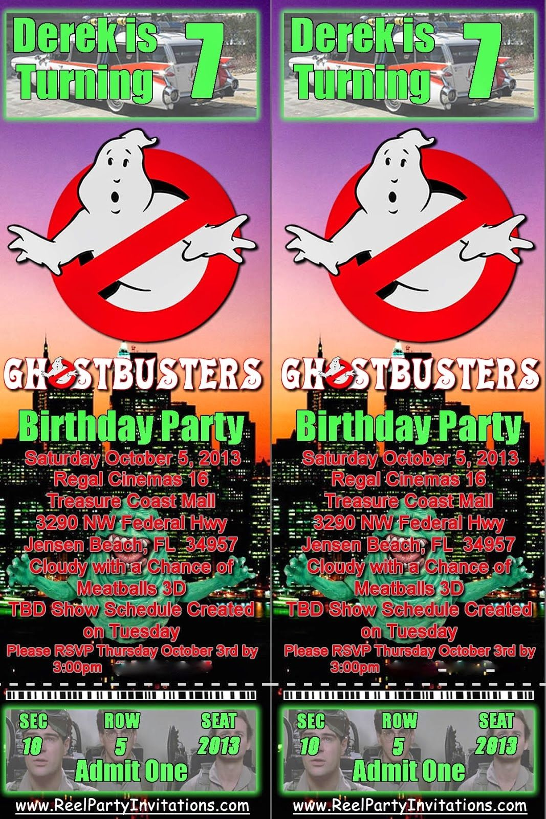 Awesome Create Own Ghostbusters Birthday Invitations Free Ideas