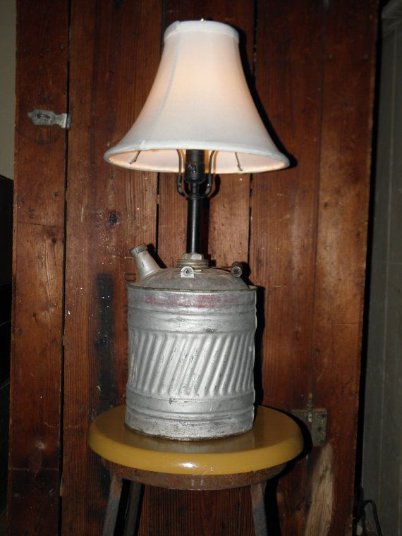 Repurposed vintage gas can lamp by fleamarketman on Etsy
