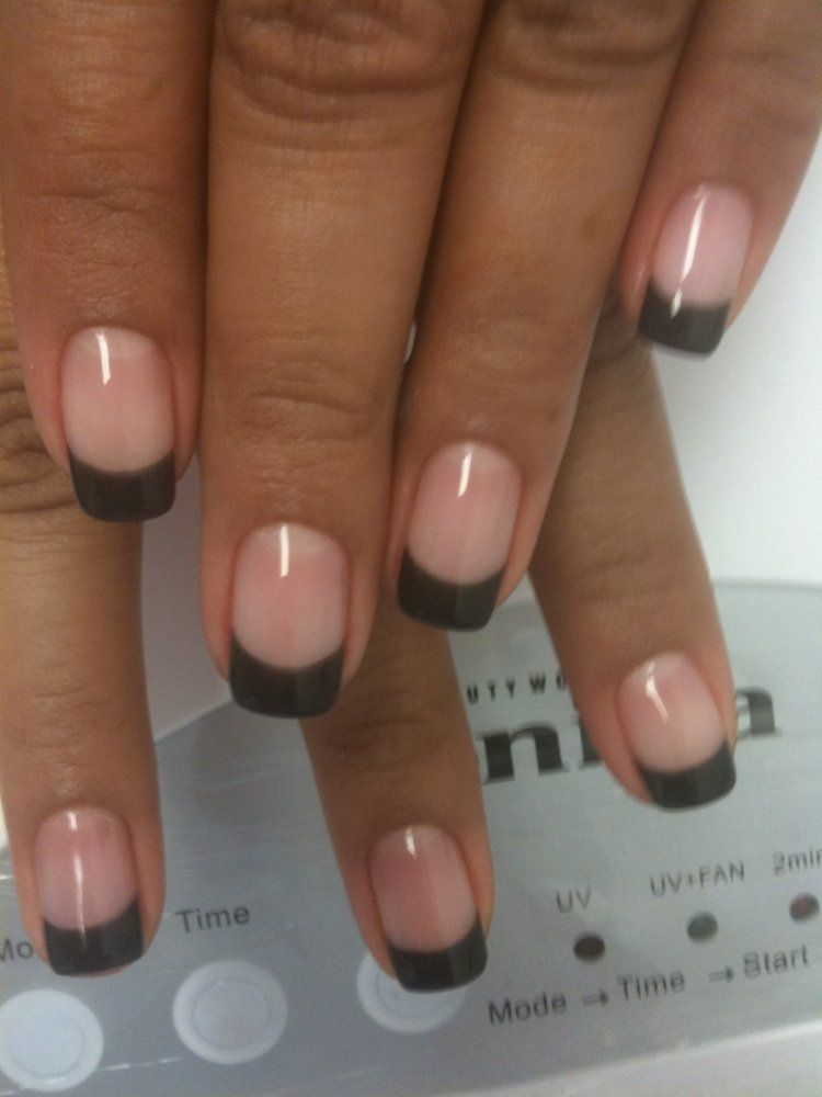 Dark tipped French manicure. | Nails | Pinterest | Manicure, Gel ...