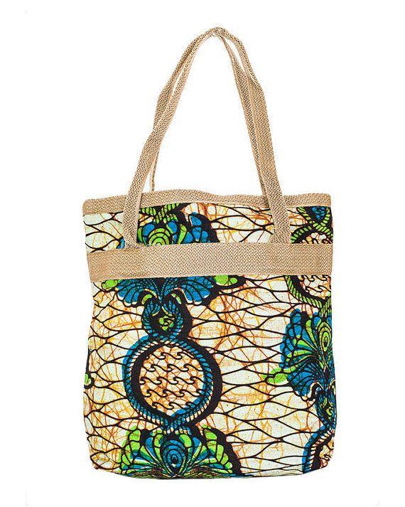 Floral Tote Bag  Zomer tas van stof tas van door KarangisCollections