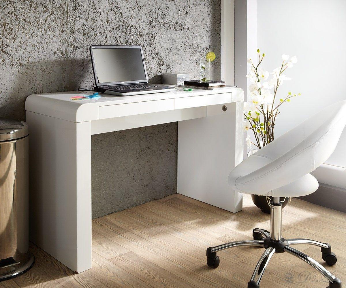 Genial Schreibtisch In Weiß Hochglanz