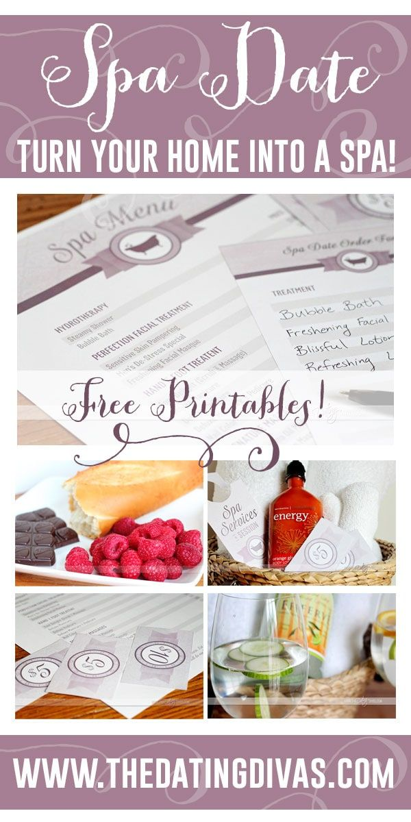 spa date night kit romantic ideas pinterest spa and free