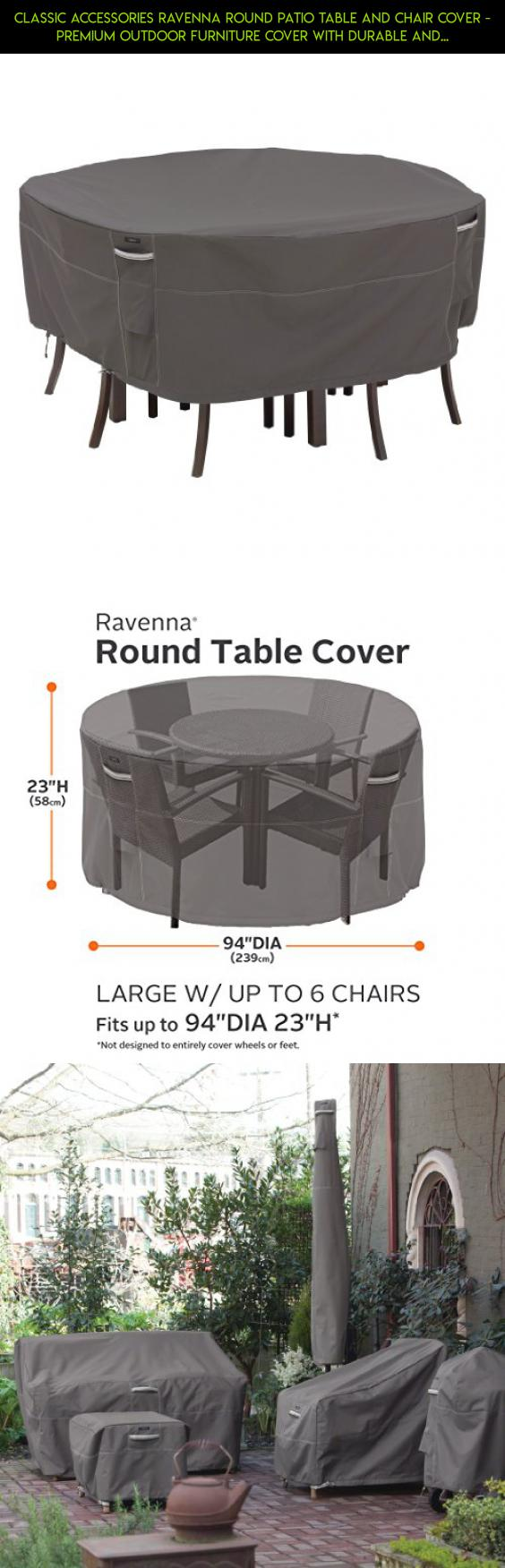 Classic Accessories Ravenna Round Patio Table And Chair Cover