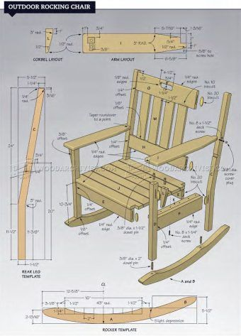 #3000 Outdoor Rocking Chair Plans   Outdoor Furniture Plans