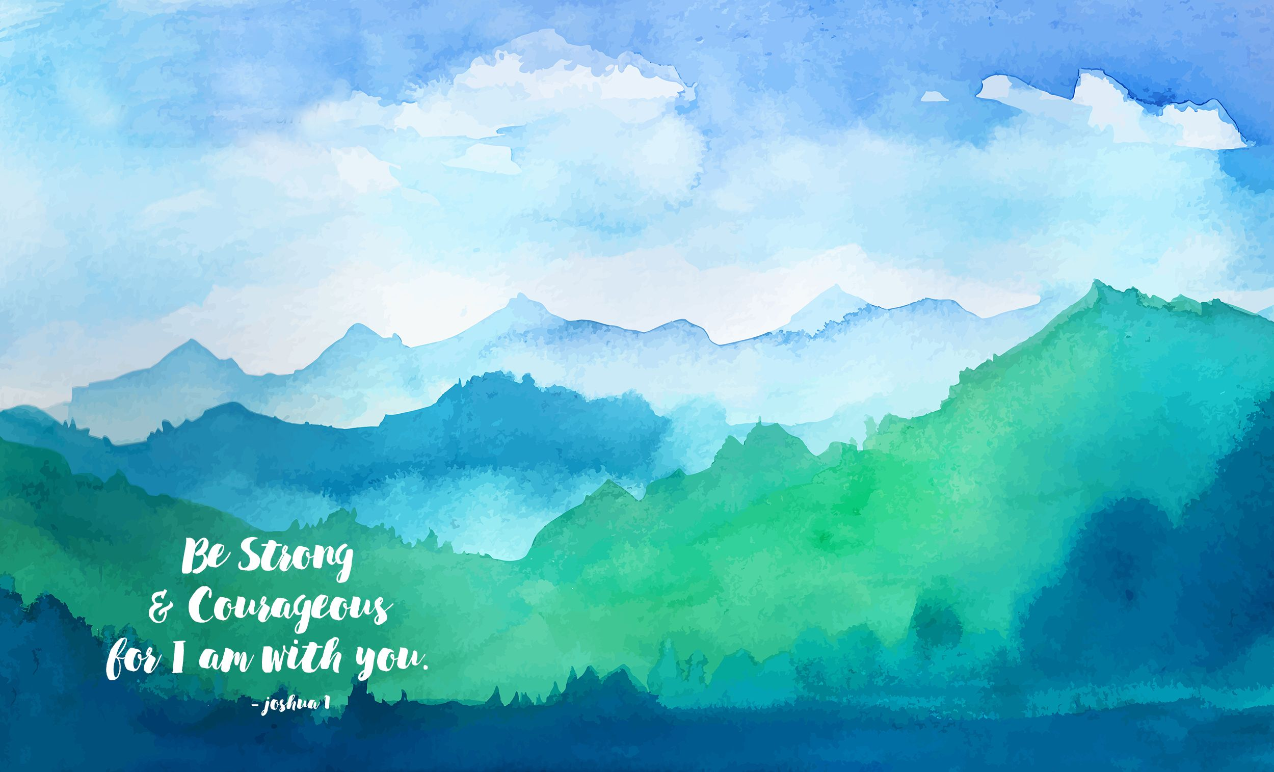 Desktop Wallpaper Scripture Abstract Art Painting Watercolor Mountains Abstract