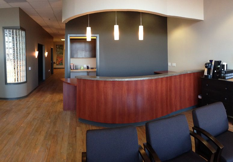 Gehin Chiropractic Space Planning\'s #reception desk and #lobby ...