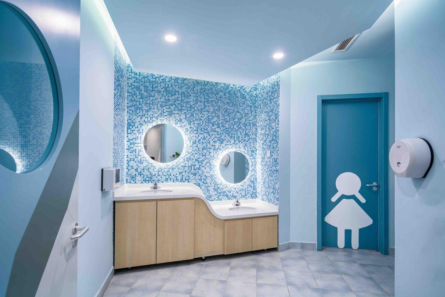 Gallery Of Vanke Early Learning Center Dot Architects 2 Restroom Design Daycare Design Hospital Interior Design Bathroom design for kids