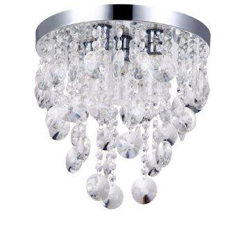 Litecraft elisa 5 light crystal effect bathroom ceiling light amazon co uk