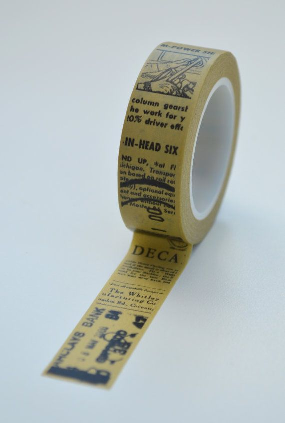 Washi Tape 15mm Vintage Transportation Text On Khaki Deco Etsy In 2020 Washi Tape Journal Paper Tape Washi Tape