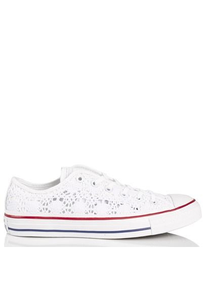 339e2f6adbf9f Chuck Taylor All Star Crochet en toile Blanc by CONVERSE