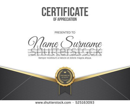 Vector Certificate Template Certificates Pinterest
