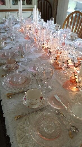 Table Setting for Mom\'s Birthday Party | Mom\'s 87th Birthday Tea ...