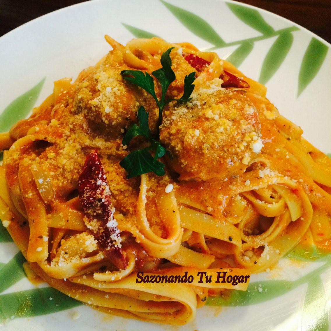 Como Cocinar Hongos Frescos | Fettucine Spacy De Mi Cocina Receta Mary S Cuellar 17 Onzas De