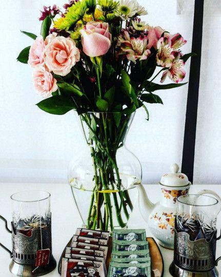 afternoon tea  on my veranda. Shakespearmint & Agatha ChrisTea from collecteables