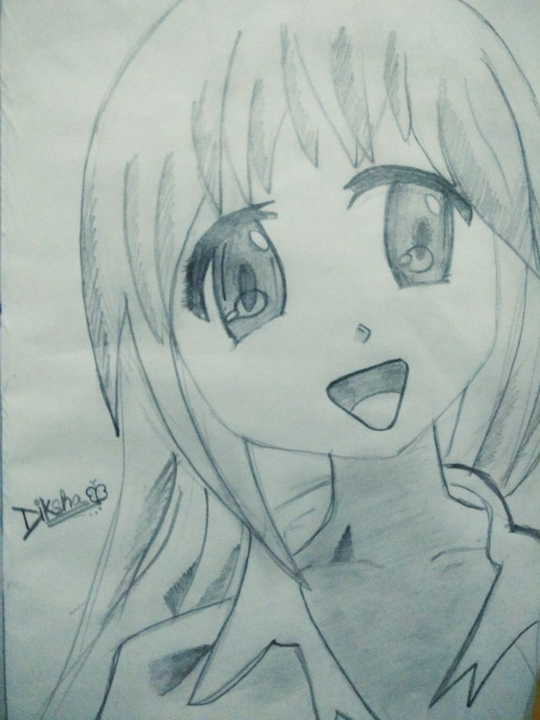 Anime Simple Easy And Cute Girl Save It And Create