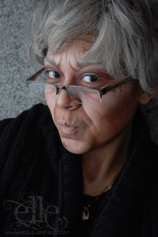 Old lady face paint ElleFX Body Paint and MakeUp