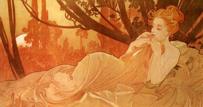 Alphonse Mucha (Czech, 1860-1939). Dusk, 1899