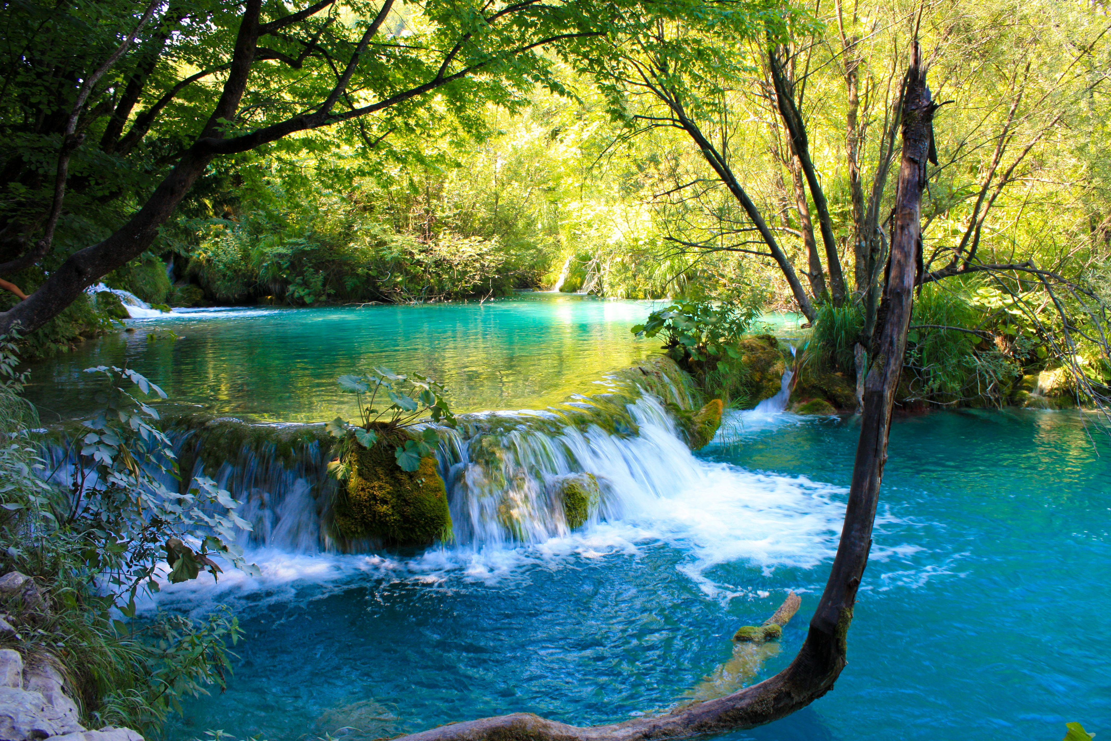 Plitvice Lakes in Croatia, the most beautiful natural park in the world.