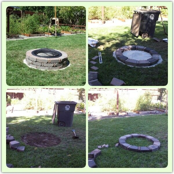 This is a really simple backyard fire pit. I bought ...
