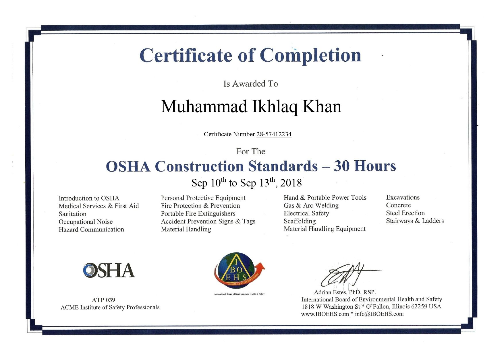 Iboehs Construction Safety Management System Construction Safety Occupational Health And Safety
