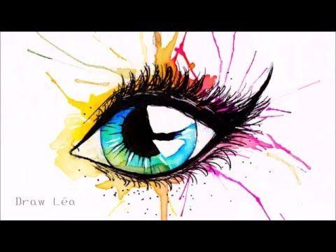 Dessin Oeil Aquarelle Youtube Yeux Aquarelle Peinture Yeux