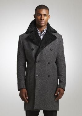 Faux-Fur Collar Trench #holidaystyle