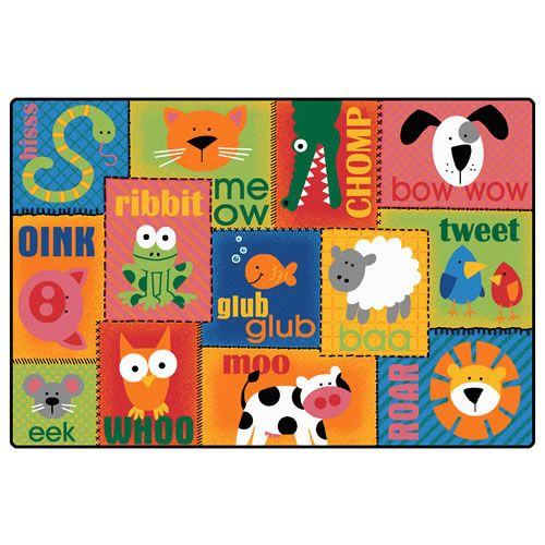 Animal Sounds Carpet Preschool Classroom Adorable Animals And