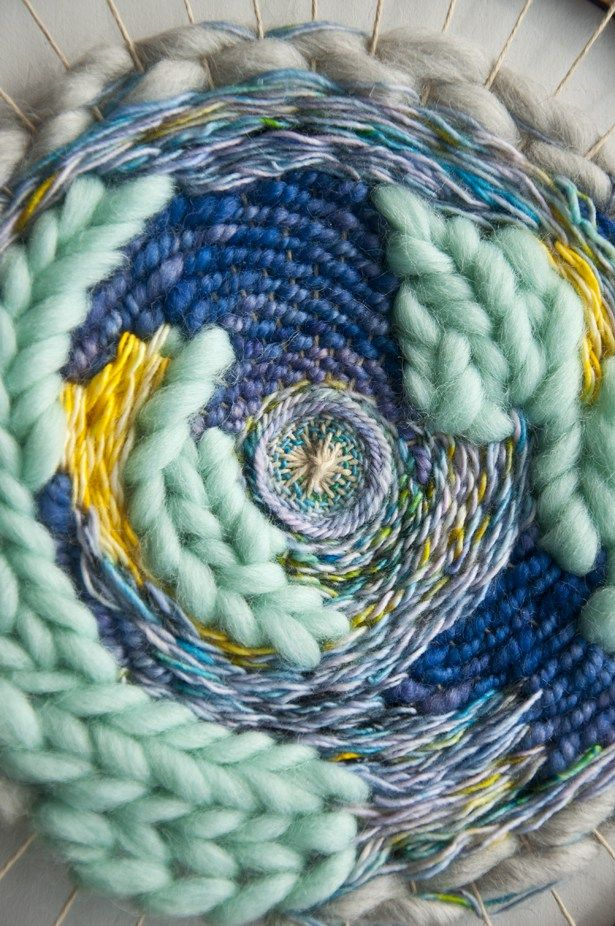 I received a lot of questions on how to weave different threads next to each other when circle weaving. I think that figuring out how to work with the different warp spacing of the circle weave was…