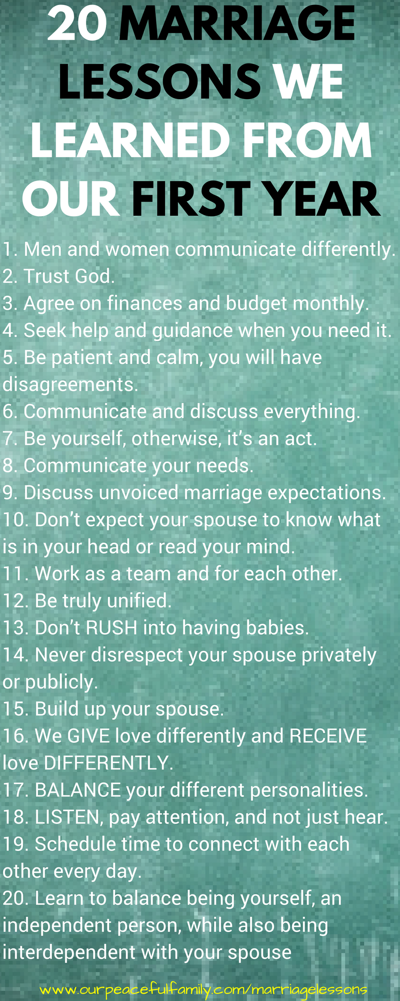 20 Marriage Lessons We Learned From Our First Year of